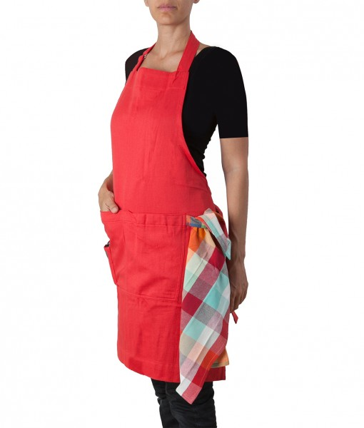 picnic red smart apron